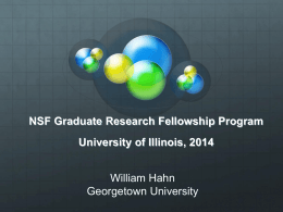 NSF Graduate Research Fellowship
