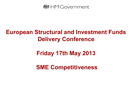 SME Thematic Objective