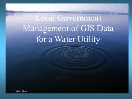 GIS Water Utility Infrastructure
