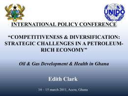 Oil & Gas Development & Health in Ghana