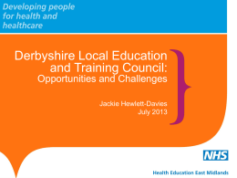 Derbyshire Local Education and Training Council