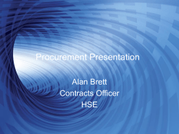 Procurement Presentation - Local Enterprise Office