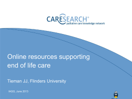Online resources supporting end of life care (5.54MB