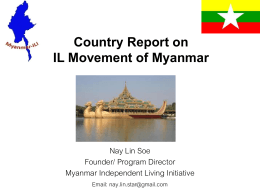 Country Report on IL Movement of Myanmar