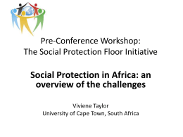 8. Social Protection in Africa