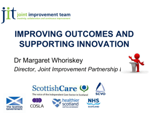 Improving Outcomes and Supporting Innovation