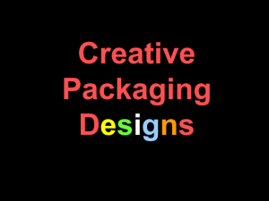 Creative Packaging PPT