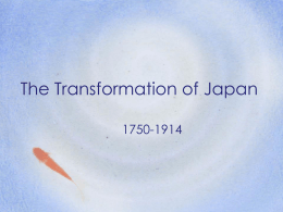 The Transformation of Japan