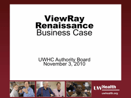ViewRay Renaissance Business Case