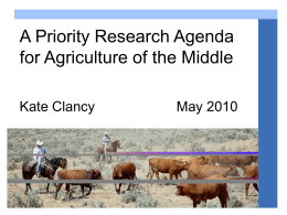PowerPoint - Agriculture of the Middle