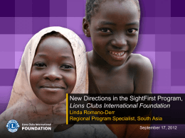 Lions Club_New directions in the SightFirst Programme