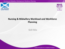 Skill Mix - NHS Education for Scotland