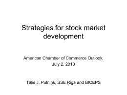 Strategies for stock market development