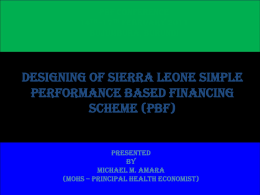 What is PBF? - Performance Based Financing