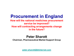 Peter Sharott - Guild of Healthcare Pharmacists