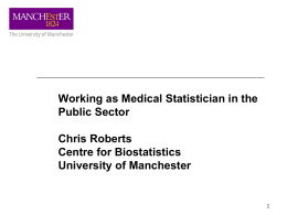 Medical Statistics in the Public Sector