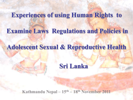 Experiences using human rights to examine laws and policies in