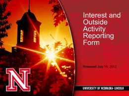 IOARF Training - University of Nebraska–Lincoln