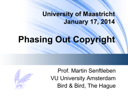 Maastricht 2014 - Phasing-Out Copyright - VU