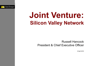 Joint Venture: Silicon Valley - Cities Association of Santa Clara County