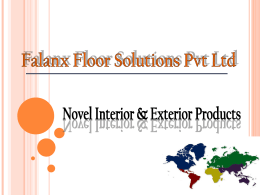 Redefining Interior & Exterior finishes with innovative solutions