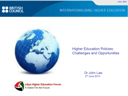 Slide 1 - Libya Higher Education Forum