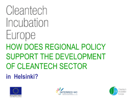 How does regional policy support the development of cleantech sector