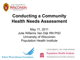 Conducting a Community Health Needs Assessment