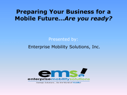 to document file - Enterprise Mobility Solutions