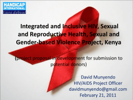 HIV, Sexual and Reproductive Health, Sexual and Gender Based