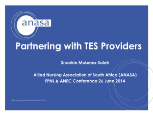 Ms Snoekie Mabena-Saleh - Partnering with your TES
