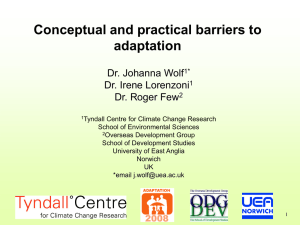 Wolf et al. Barriers to adaptation