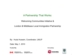 A Partnership that Works – WCI and London & Middlesex LlP