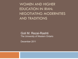 Women, Islam and Higher Education in Post