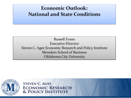 Evans - Economic Outlook: National and State Conditions