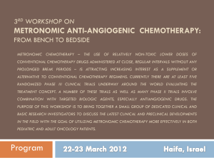 3rd Workshop on Metronomic Anti-Angiogenic