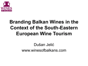 Branding Balkan Wines in the Context of the South