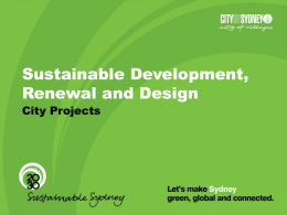 Sustainable Sydney 2030 - Local Government and Shires