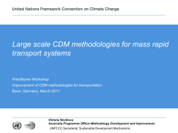 Mobilizing carbon finance for sustainable urban - CDM