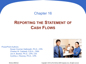 16 Reporting the Statement of Cash Flows