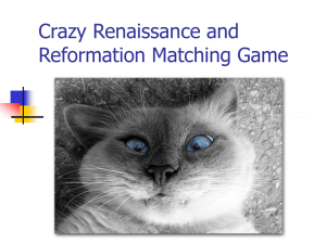 Crazy Renaissance and Reformation Matching Game
