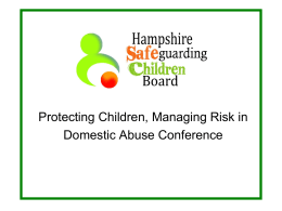 Child Protection Foundation - Hampshire Safeguarding Children