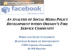An Analysis of Social Media Policy Development within Oregon`s