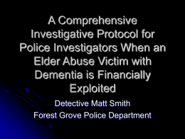 A Comprehensive Investigative Protocol for Police Investigators