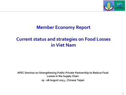 Member Economy Voluntary Reports—Vietnam