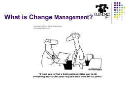 Change Management & Technology Implementation