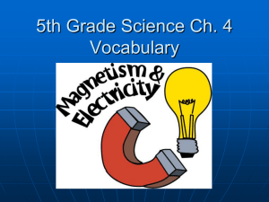 5th Grade Science Ch. 4 Vocabulary