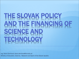 Science and Technology in Slovakia