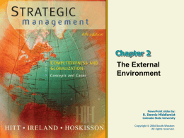 Strategic Management 6e. - Hitt, Hoskisson, and Ireland