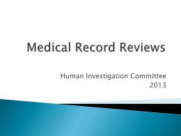 Medical Record Review